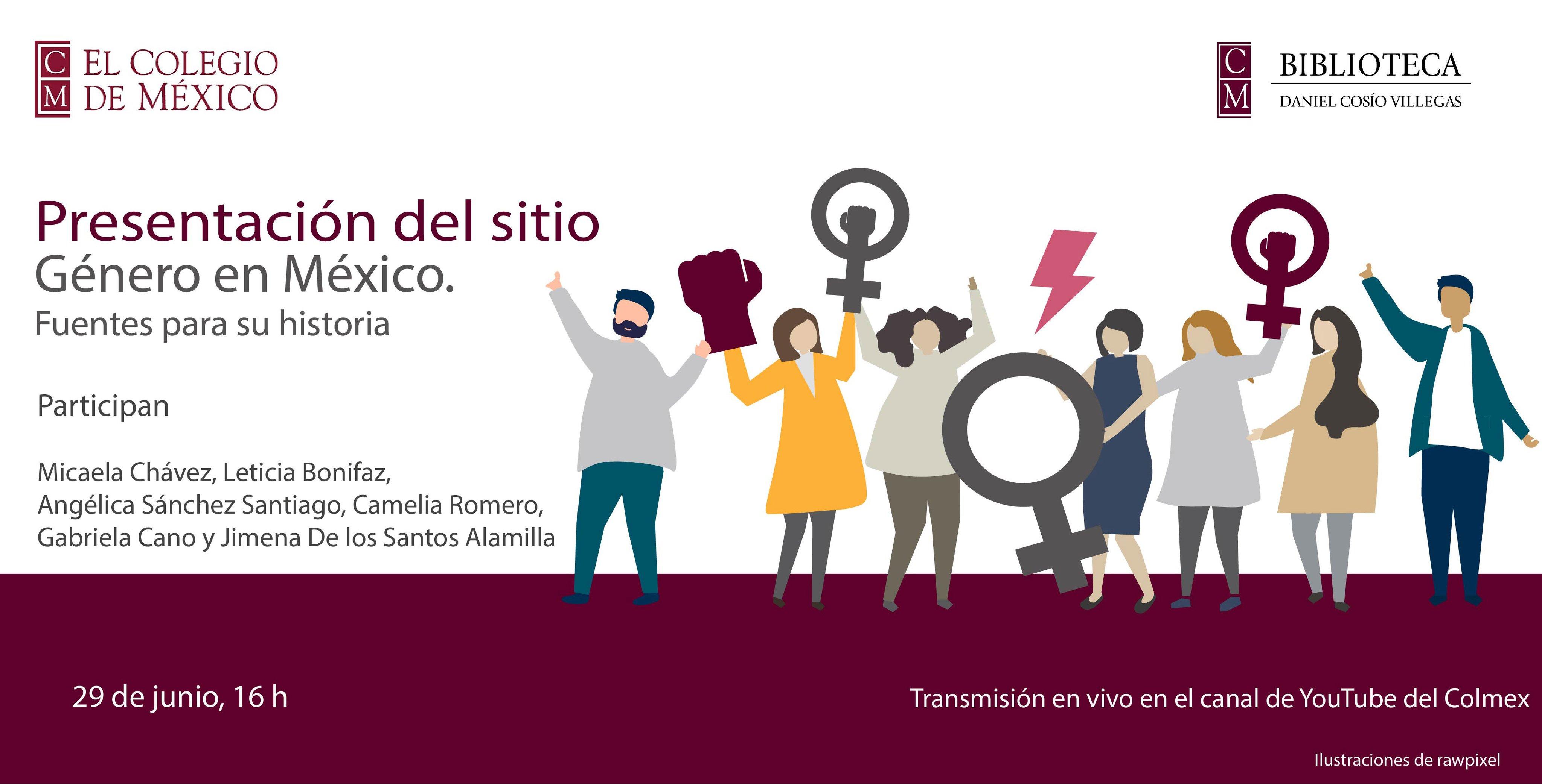 """Presentación del sitio """"Género en México: fuentes para su historia"""", 29 junio de 2020."""